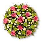 Lime Green & Pink Posy