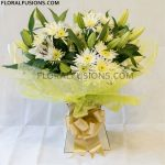 White-Sympathy-Bouquet-with-Lilies-leicester-florist